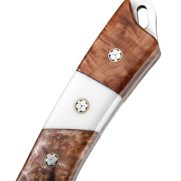 Nož drška Korijen drvo i kost